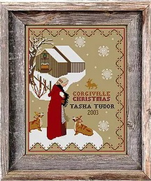 Twin Peak Primitives - Tasha Tudor Corgiville Christmas