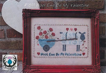 Wool Ewe Be My Valentine by Thistles