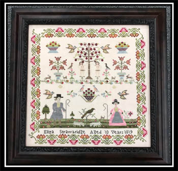 Victorian Rose Needleart Eliza Strawbridge 1819