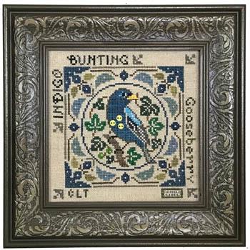 Tellin Emblem Birdie & Berries - Indigo Bunting