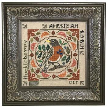 Tellin Emblem Birdie & Berries - American Robin