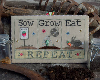 Sow, Grow, Eat (w/buttons) by Puntini Puntini