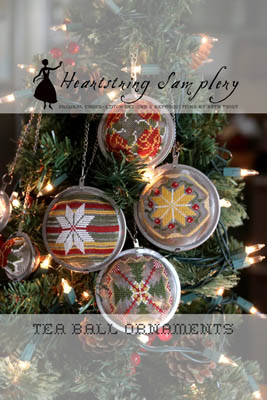 Tea Ball Ornaments by Heartstring Samplery