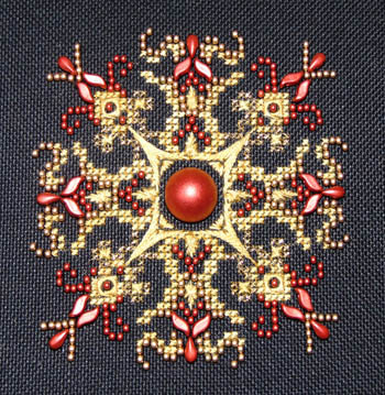 Lava Red Sparkler by Northern Expressions Needlework