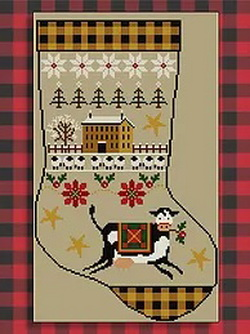 Twin Peak Primitives - Rustic Christmas Series Stocking I
