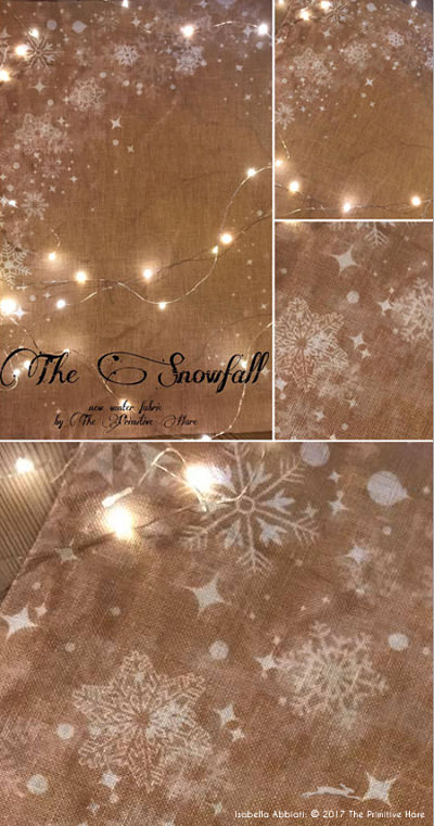 Snowfall 30ct linen by The Primitive Hare