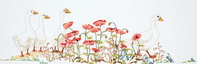 Geese in the poppies by Thea Gouverneur