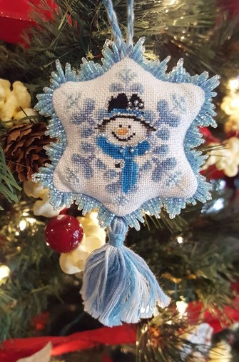 Blackberry Lane Designs Frosty Blue Ornament