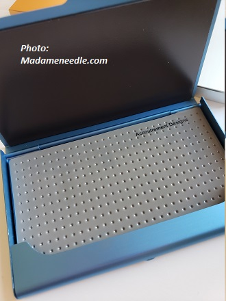 Blue bead/needle organizer by Accoutrement Designs
