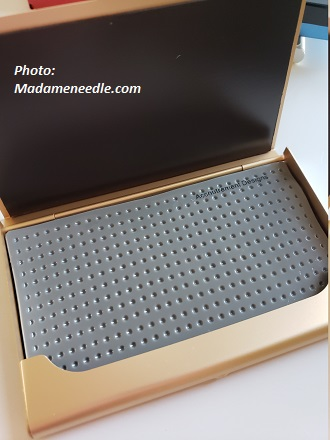 Gold bead/needle organizer by Accoutrement Designs