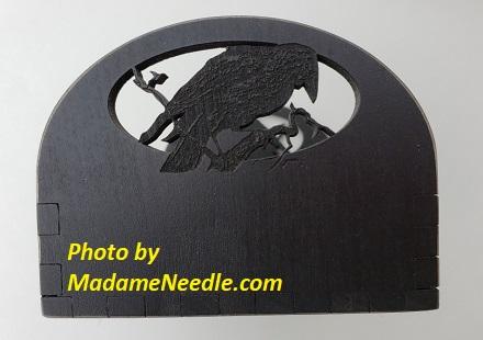 Wooden box 4 x 6 BLACK RAVEN