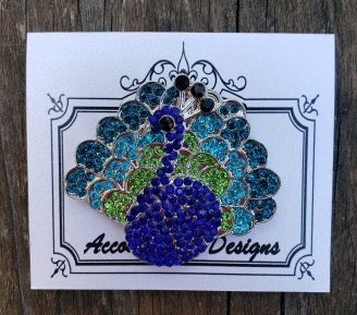 Peacock needle minder by Accoutrement Designs