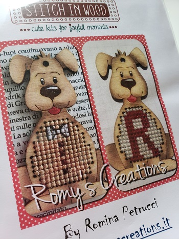 Romy's Creations Stitch in wood puppy