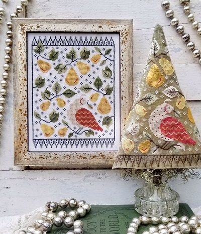 First day of Christmas Sampler and Tree by Hello from Liz Mathews