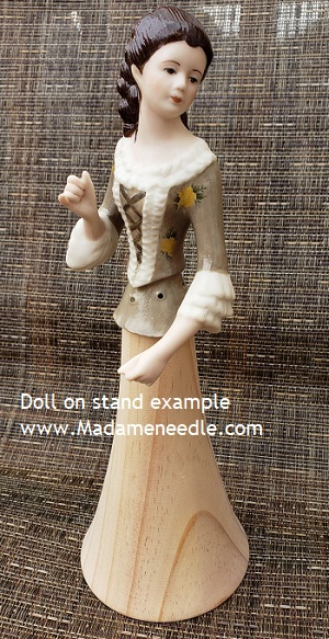 Wooden doll stand number 45