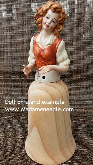 Wooden doll stand number 89