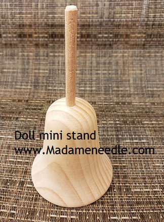 Wooden doll mini stand number 41