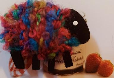 Multicolored sheep needle minder
