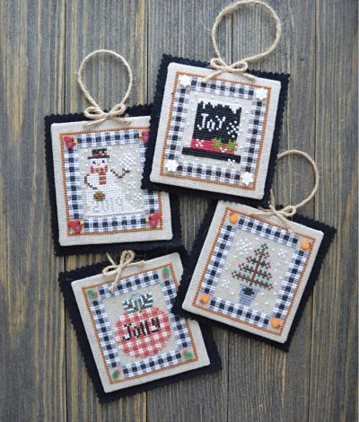 Annie Beez Folk Art Country Christmas Ornament Collection II