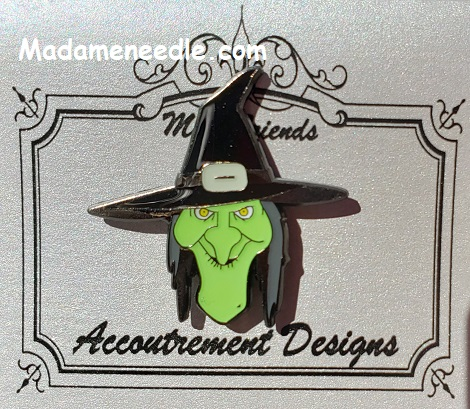 Green face witch by Accoutrement Designs