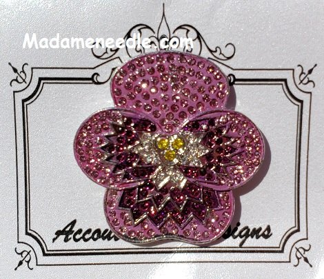 Purple pansy needle minder by Accoutrement Designs