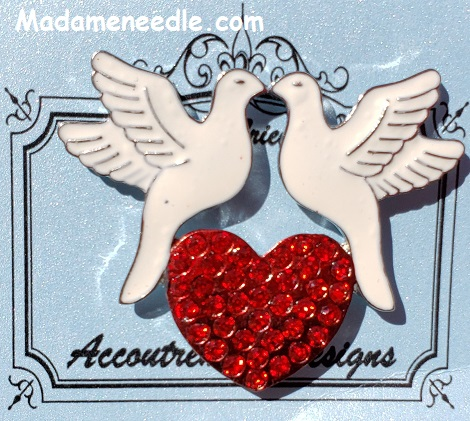 2 Turtle doves needle minder by Accoutrement Designs