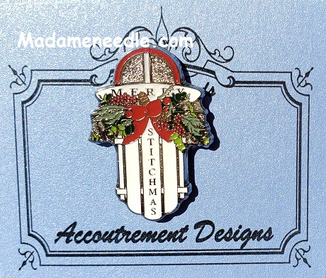 Merry Stitchmas needle minder by Accoutrement Designs