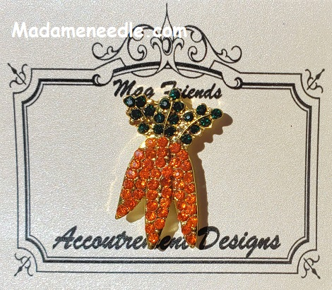 Carrots needle minder by Accoutrement Designs