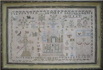 Shakespeare's Peddler Euphrasier Enout 1840 A French Cathedral Sampler