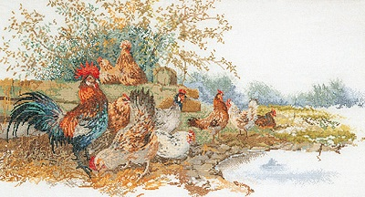 Chickens in the field by Thea Gouverneur