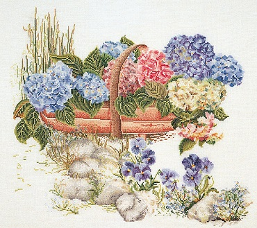 Basket of flowers by Thea Gouverneur