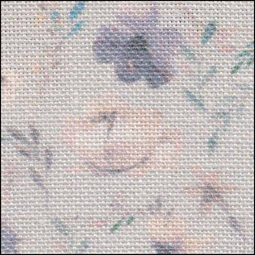 Fabric Flair Blooms on Blue 28ct Linen