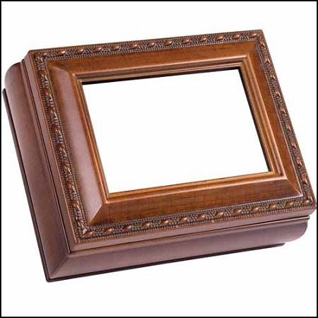 Woodgrain Rectangular Treasure Box
