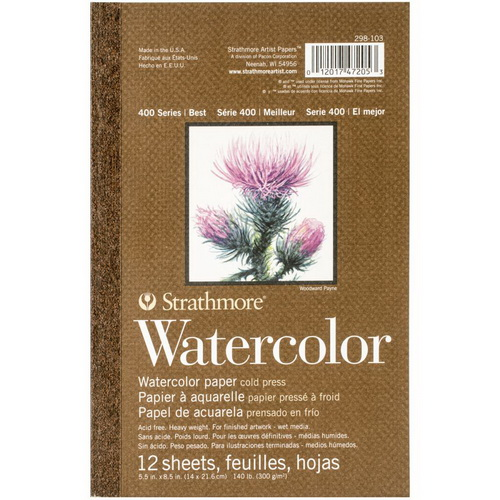 Strathmore Watercolor Paper Pad 5.5X8.5 12 Sheets