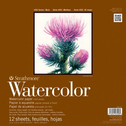 Strathmore Watercolor Paper Pad 12X12 12 Sheets