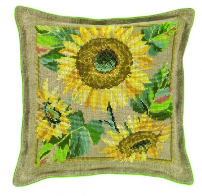 Sunflower Pillow by Eva Rosenstand