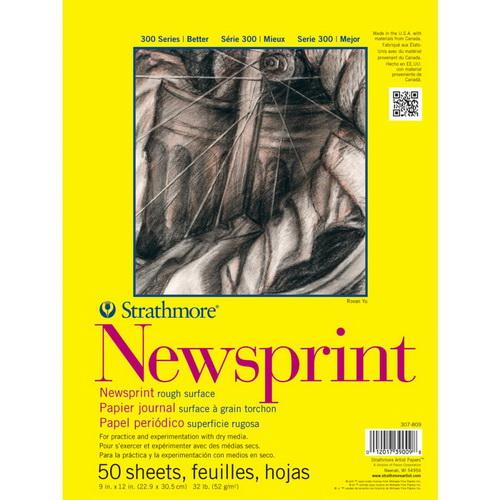 Strathmore Rough Newsprint Paper Pad 9X12 50 Sheets
