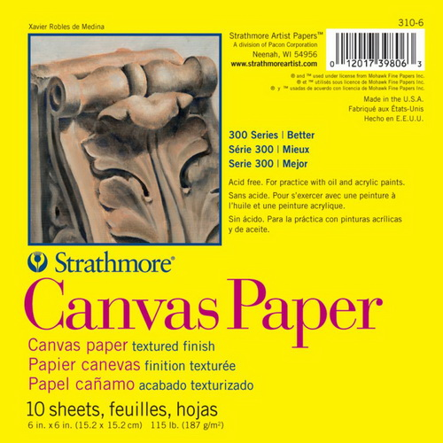 Strathmore Canvas Paper Pad 6X6 10 Sheets