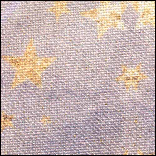 Fabric Flair Watercolor Dreams on Purple 32ct Linen,17x19