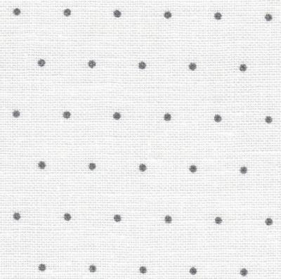 EDINBURG White with Grey Mini Dots 36CT,32171329,18X27
