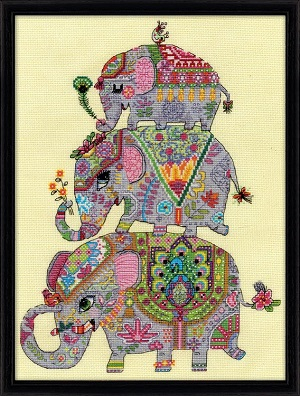 Elephant trio,3259,Design Works