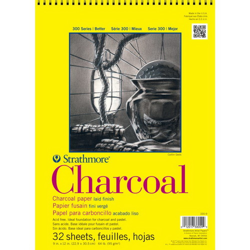Strathmore Charcoal Spiral Paper Pad 9X12 32 Sheets