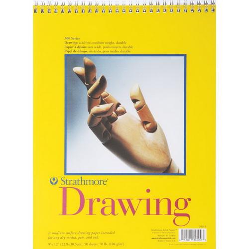 Strathmore Medium Drawing Spiral Paper Pad 9X12 50 Sheets