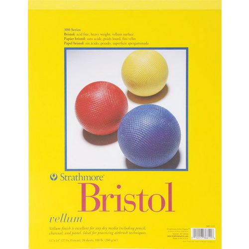 "Strathmore Bristol Vellum Paper Pad 11""X14"" 20 Sheets"