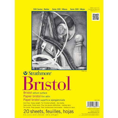Strathmore Bristol Vellum Paper Pad 9X12 20 Sheets