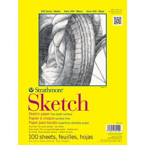 Strathmore Sketch Paper Pad 11X14 50lb 100 Sheets
