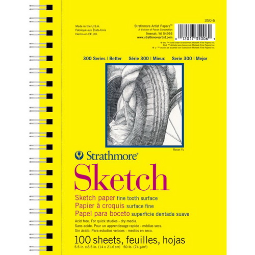 Strathmore Sketch Paper Pad 5.5X8.5 100 Sheets