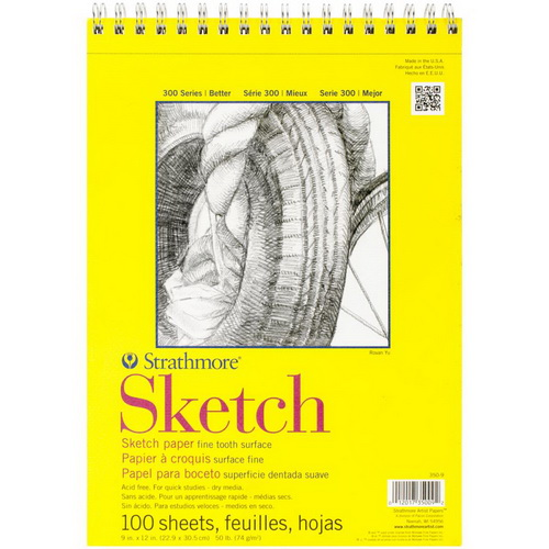 Strathmore Sketch Spiral Paper Pad 9X12 100 Sheets