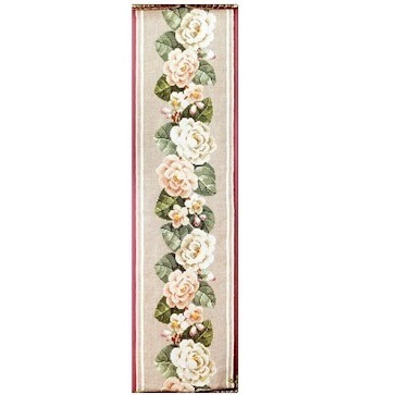 White roses bellpull by Permin