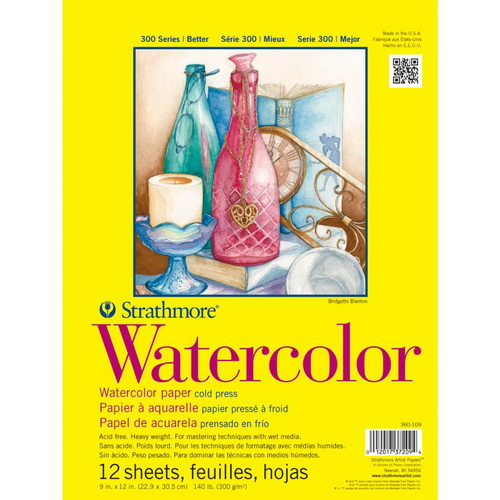 Strathmore Watercolor Paper Pad 9X12 12 Sheets